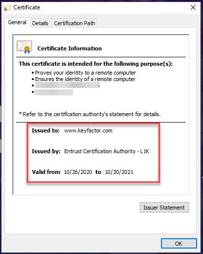 3 Certificate Information